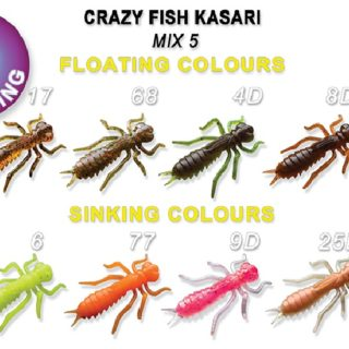 Silikonske Varalice CRAZY FISH Kasari 2.7cm MIX