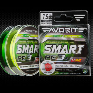 Struna Favorite Fishing Smart PE x3 green #0.3